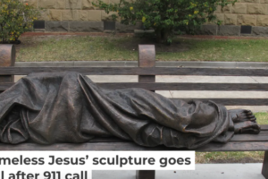 Homeless Jesus' sculpture goes viral after 911 call